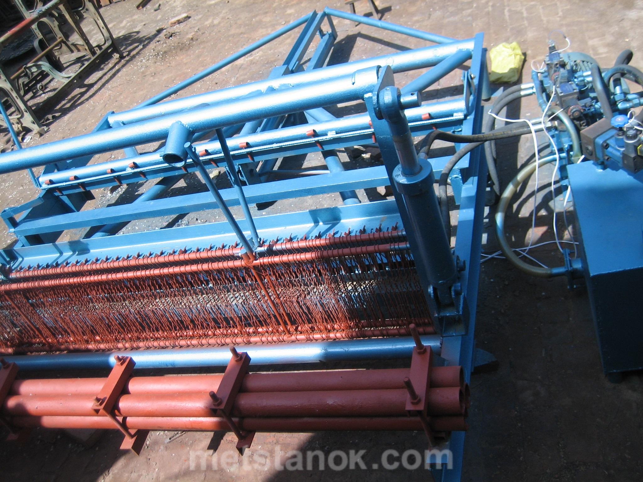 Станок производство рифленых сеток грохота